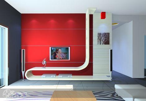 影视墙效果2 山东圣源作品 家居设计图库 效果图,实景图,样板间,